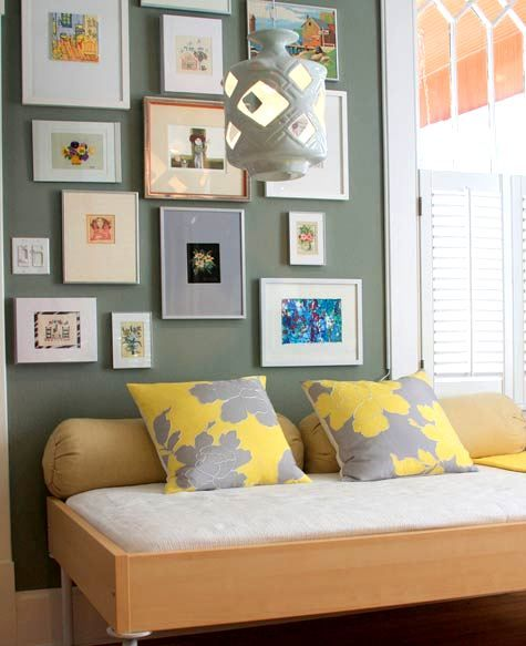 Accent Wall Colors That Go With Yellow: Yellow Walls With Accent Color