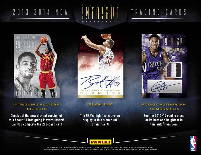 2013-14 Panini Intrigue Basketball Hobby Box