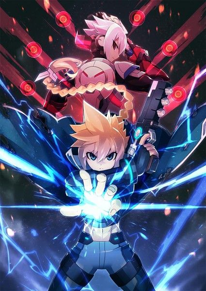 Azure Striker Gunvolt: Striker Pack Limited Edition - details   - includes a DVD of the original animation Azure Striker Gunvolt: The Anime - new drama CD - package illustration by character designer Yoshitaka Hatakeyama - due out Aug. 31st in Japan  from GoNintendo Video Games