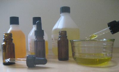 Homemade facial moisturizer.  Easy!  5 drops essential oil, 6 teaspoons carrier oil and 1 teas wheat germ oil or 1 vit E capsule.  Lots of recipes for your facial type!