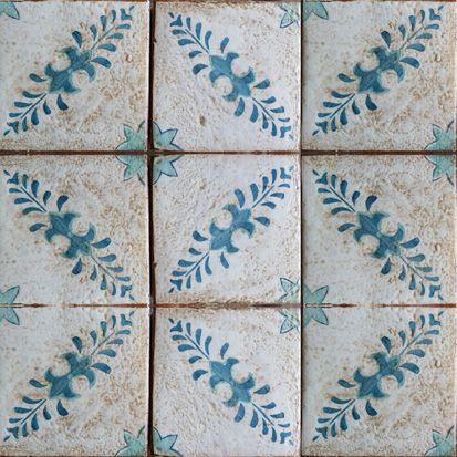 'Portugal 2' Mediterranean Custom Terracotta Tiles by Tabarka Studio