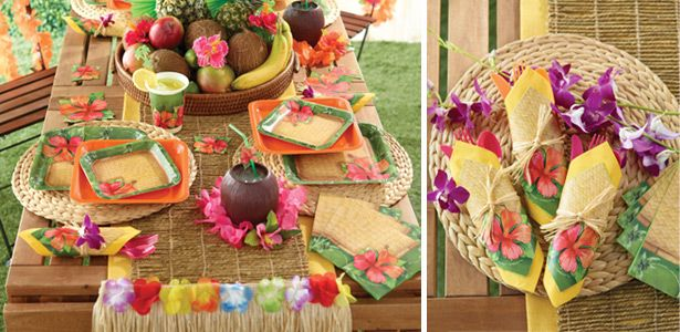 "Addobbi e decorazioni per feste a tema ""Bambù Hawaii"" su VegaooParty"