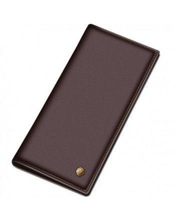 <b>Men Genuine</b> Cow <b>Leather</b> Wallet Long Purse Card Holder N55 ...
