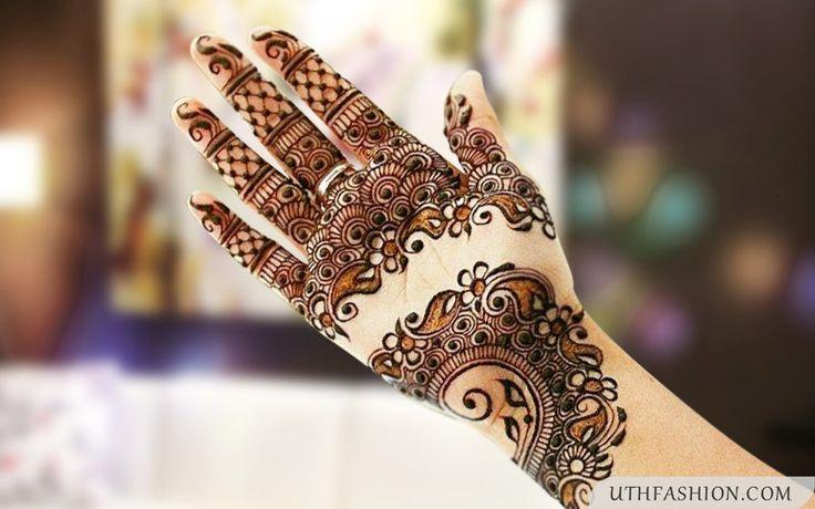 Latest Arabic Mehndi Design Photos