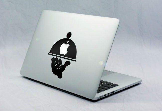 Sticker Macbook Plat