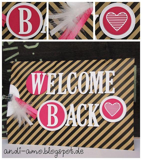 welcome back verpacken pinterest geschenke gro e buchstaben und verpackung. Black Bedroom Furniture Sets. Home Design Ideas