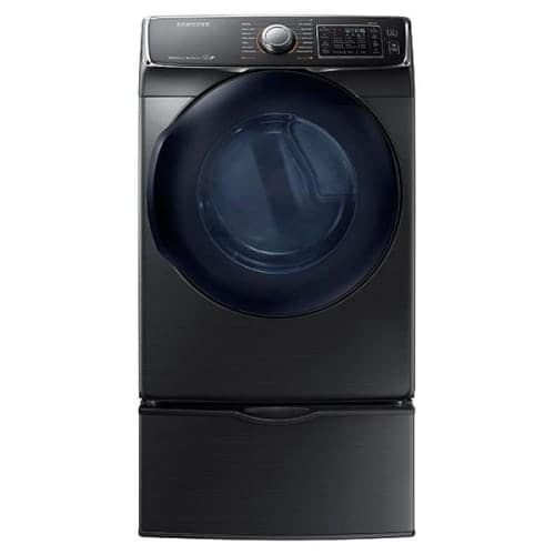 Samsung DV50K7500E 27 Inch Wide 7.5 Cu. Ft. Energy Star Rated Electric Dryer with Smart Care Smartphone Compatibility, Silver stainless steel