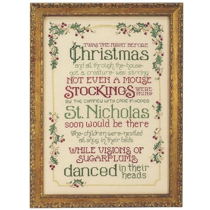 Twas the Night Counted Cross Stitch Kit - Cross Stitch, Needlepoint, Embroidery Kits – Tools and Supplies
