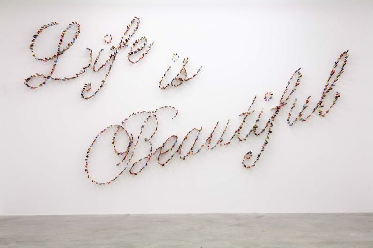 Farhad Moshiri: Ideas, Artists, Life Is Beautiful, Kitchens Knives, Bones, Knife Typography, Art Piece, Farhad Moshiri, Gallery Wall