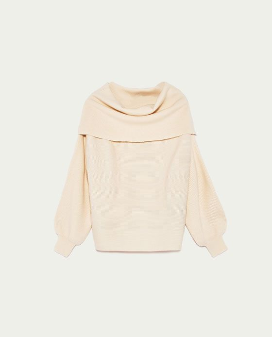 Image 8 of OFF-THE-SHOULDER SWEATER from Zara