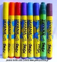 Μαρκαδόροι javana textile color t-shirts