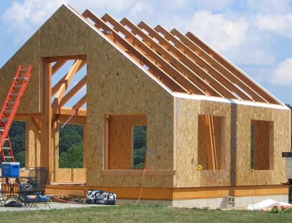 Simple timber frame using sips construction sites for Sip cabins