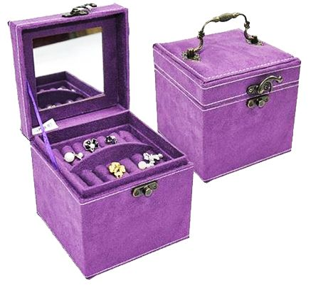 Purple Suede Jewelry Box {image}