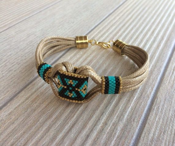 Tribal Bracelet Boho Hippie Bracelet Ethnic Aztec Bracelet