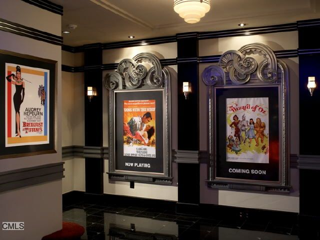 """Good idea for the walls going down to the basement theater.... If no basement.... I'd still use rope lights in """"theater"""" to create aisles. Plus.... Framing old movie posters! Love that!"""