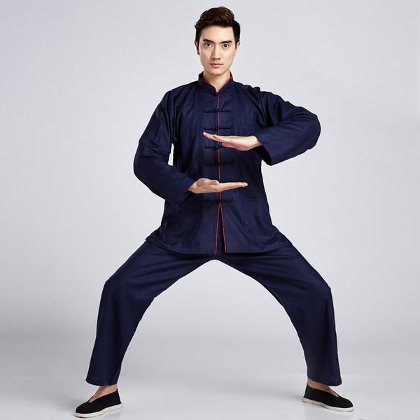 FREE SHIPPING,  Long Sleeve Chinese Traditional Dress Martial Art Sets Tai Chi Clothes Taichi Clothing Kungfu Wushu Suit Taiji Uniform Men