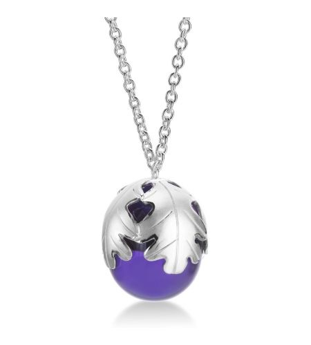 Baccarat - Murmure Collection Sterling Purple Crystal Large Necklace