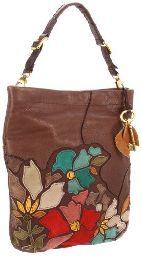 fun!: Fossil Bags, Leather Flowers, Cute Purses, Fossil Purses, Summer Bags, Hobo Purses, Leather Bags, Cute Handbags, Hobo Bags