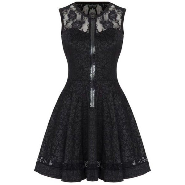 Jawbreaker Black Rose Jacquard Lace Gothic Steampunk VTG Victorian... ❤ liked on Polyvore featuring dresses, mini dress, victorian steampunk dress, short lace dress, rose lace dress and steampunk dress