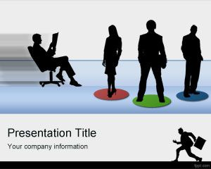 Employees PowerPoint template for business presentations and job listings