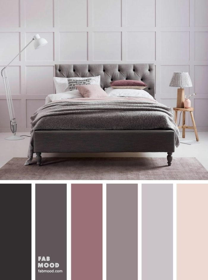 1001 Ideen Fur Eine Moderne Einrichtung In Mauve Farbe Grey Bedroom Colors Bedroom Color Schemes Bedroom Colour Palette