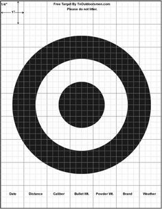 Free Targets Printable Shooting Rifle Pistol Shotgun Archery Range Bull's Eye
