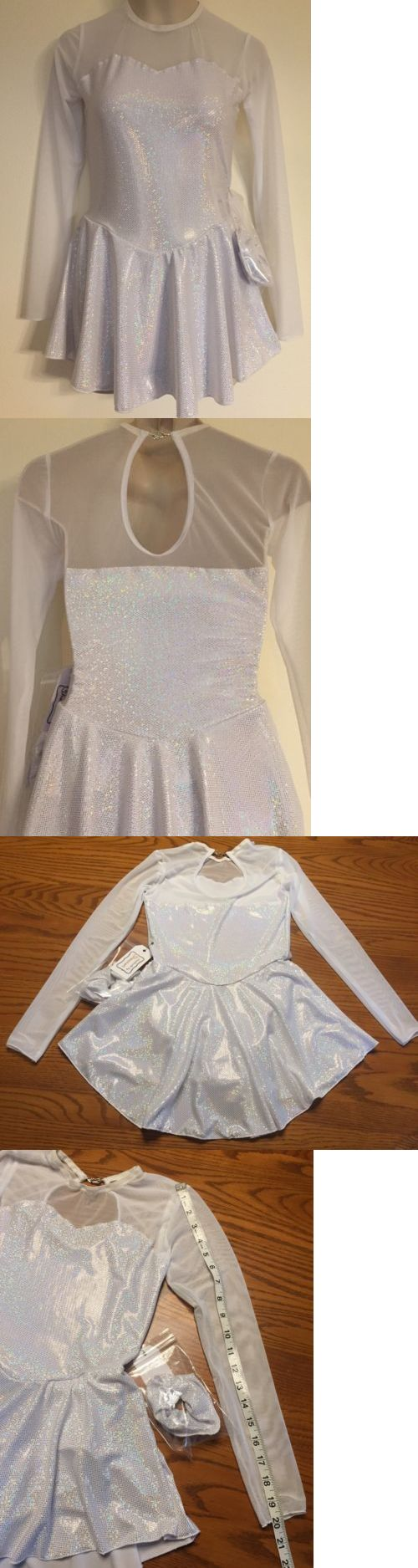 Skating Dresses-Girls 21226: Figure Skating New Competition Dress Child L 10 Ice Skate White Sparkles Nwt -> BUY IT NOW ONLY: $39.99 on eBay!