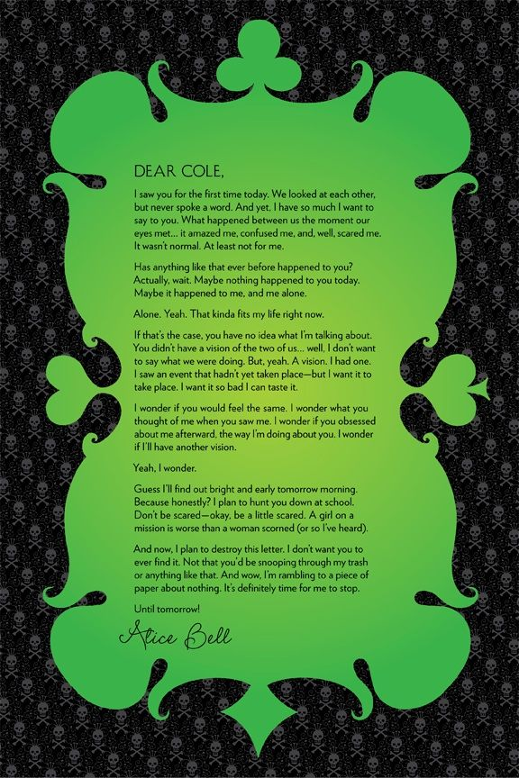 alice in zombie land gena showalter quotes | ... by Ali to Cole (characters from Alice in Zombieland) Click to enlarge