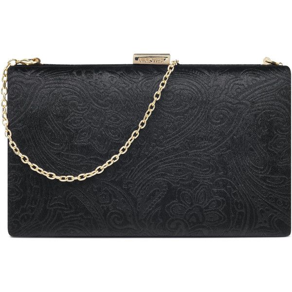 Nine West Ismay Paisley Clutch ($69) ❤ liked on Polyvore featuring bags, handbags, clutches, nine west clutches, chain handbags, nine west, nine west purses and nine west handbags