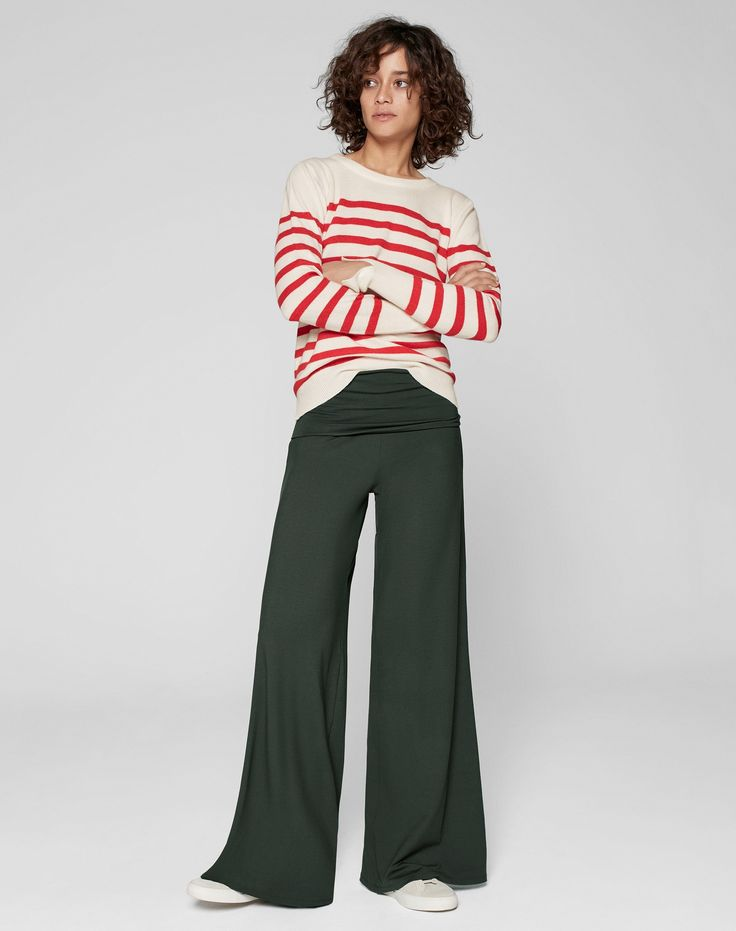 Women's Trousers and Skirts | Shop The Palazzo Pants khaki from ME+EM