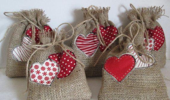 Rustic Gift Bag Handmade Burlap Gift Bag by AwfyBrawJewellery