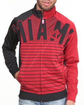 Buy Miami Heat Flatline Track Jacket Men's Outerwear from NBA, MLB, NFL Gear. Find NBA, MLB, NFL Gear fashions & more at DrJays.com