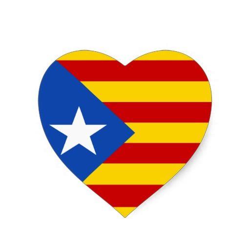 """""L'Estelada Blava"""" Catalan Independence Flag Heart Sticker"