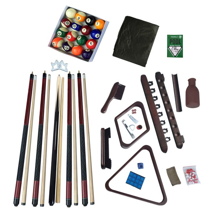 Hathaway Deluxe Billiards Accessory Kit - Mahogany (Brown) Finish, Adult Unisex