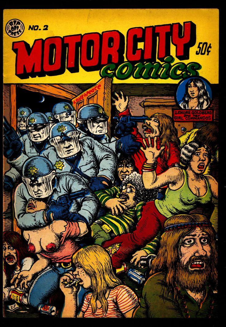 MOTOR CITY Comics #2 3rd Robert Crumb Humor Underground*
