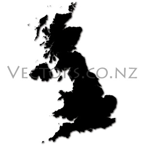 Blank Vector Map of the United Kingdom