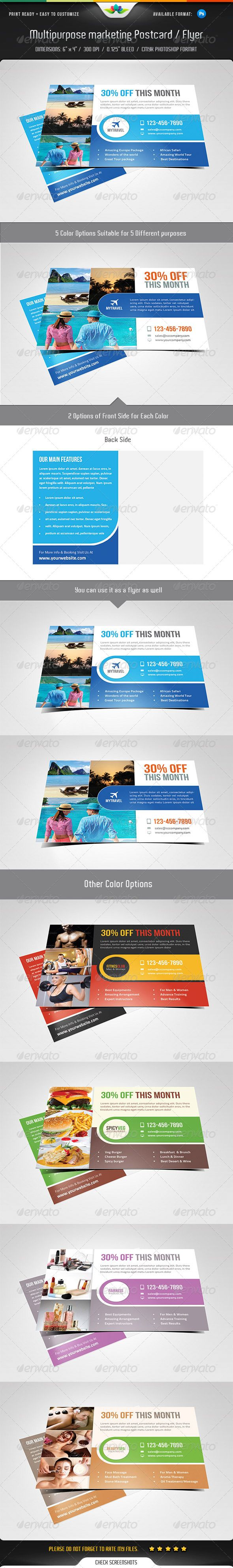 best images about marketing postcards flyers multipurpose marketing postcard flyer template