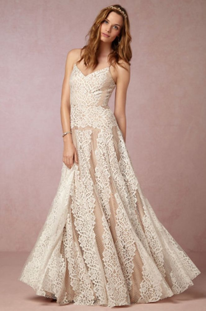 BHLDN 0 Larkin Women s Wedding Dress Size 0  682abbcaab
