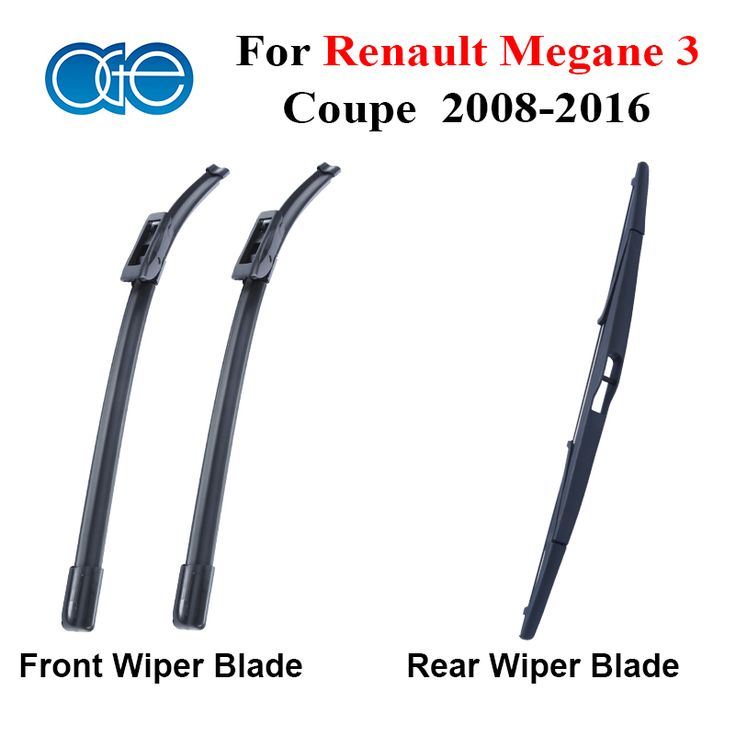 Front Rear Wiper Blade For Renault Megane 3 coupe 2008-2016 Silicone Rubber Window Windscreen Windshield Wipers Car #Affiliate