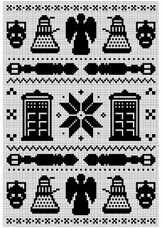 Doctor Who Fair Isle Pattern - for knitting, cross stitch, whatever fandom creation you want =)