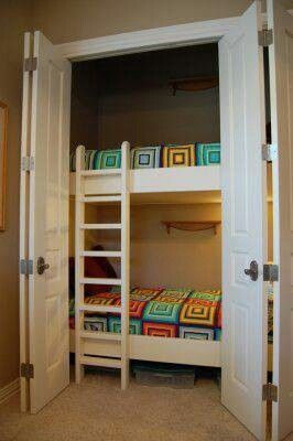 So cool....room in closet for kids