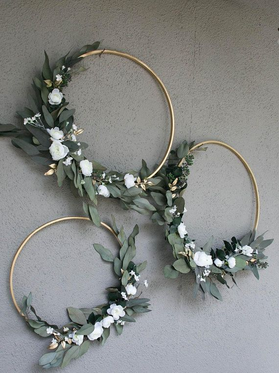 Wedding Hoops with Greenery and Flowers Bridal shower