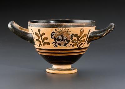 Archaic Black Figure Skyphos   6th Century BC   Price $17,500.00   Archaic Greek, Greek   Terracotta   Greek Vases, Vessels   eTiquities by Phoenix Ancient Art