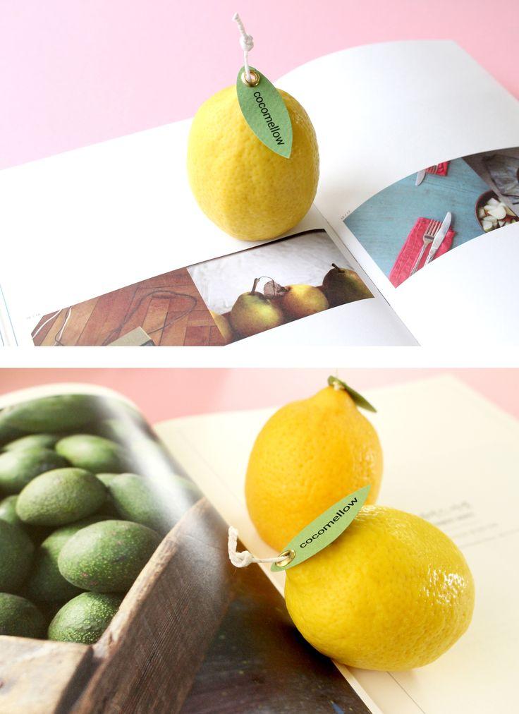 Sweet and cool style lemon candle!  #candle #design #lemon #interior #handmade #atelier #cocomellow #캔들 #캔들공방 #코코멜롱ㅜ