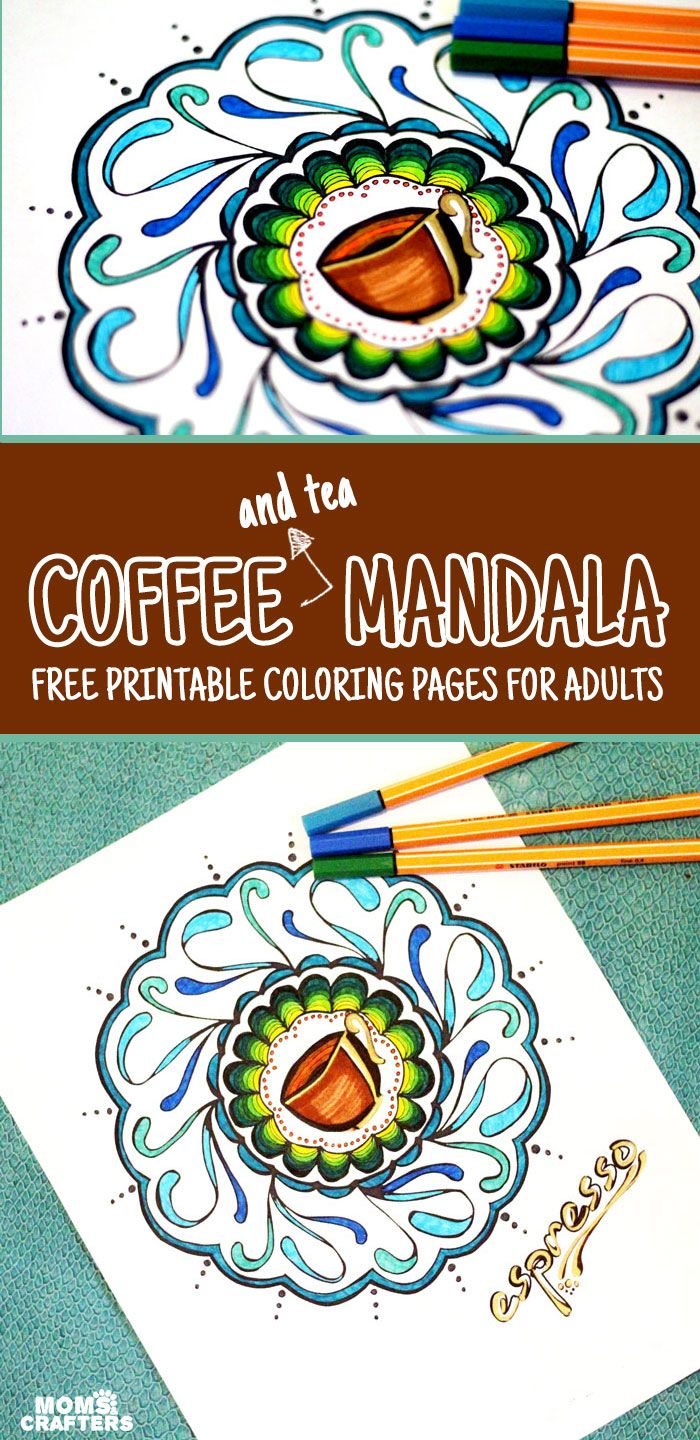 Finally coffee and tea coloring pages Gel pens