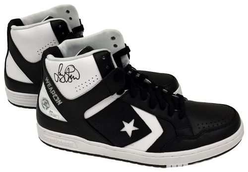 Larry Bird Autographed Pair of Converse Weapon Basketball Shoes JSA+Bird Holo