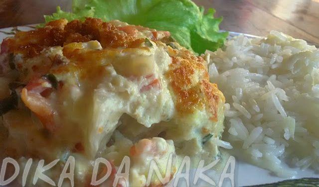 Cação ao forno - Dika da Naka