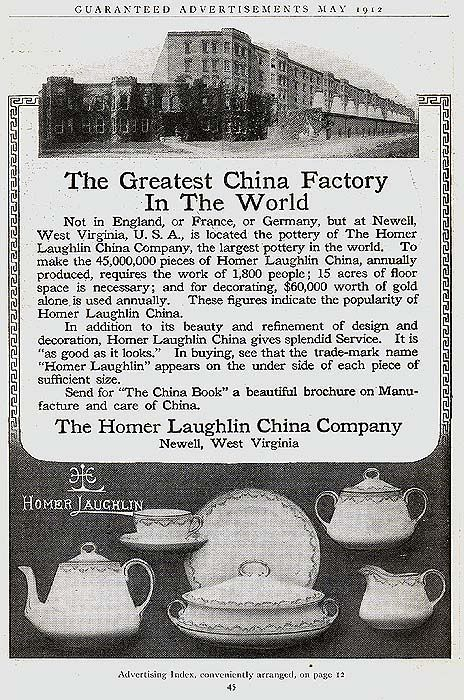 Homer Laughlin Advertisement from 1912,  2 dozen years before the birth of Fiesta® .