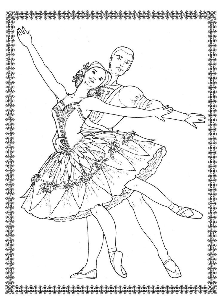 17 Best Images About Ballet Dance Colour Pages On