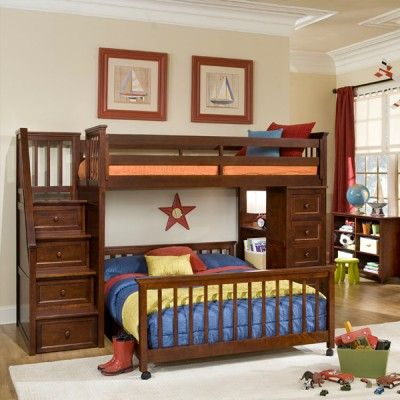 Full Size Loft Bed With Desk Underneath Would Be Neat But Not Too